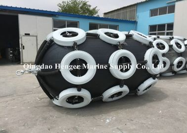 50 Kpa 80 Kpa Inflatable Marine Rubber Fender Black Color For Port And Dock