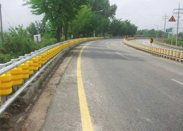 Rotating Guardrail Rolling Guard Barrier , Elastic Roller Barrier System